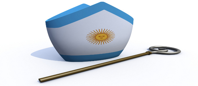 Argentine Pope hat and crosier 3d illustration