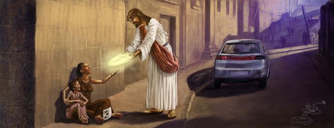 Christ offers a Host