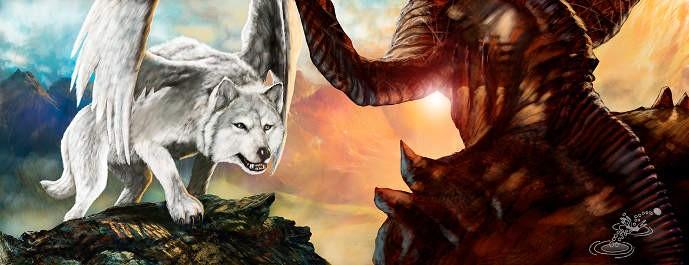 Lobo Asecha al Diablo