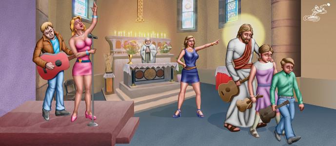 Coro Despedido de Iglesia Catolica